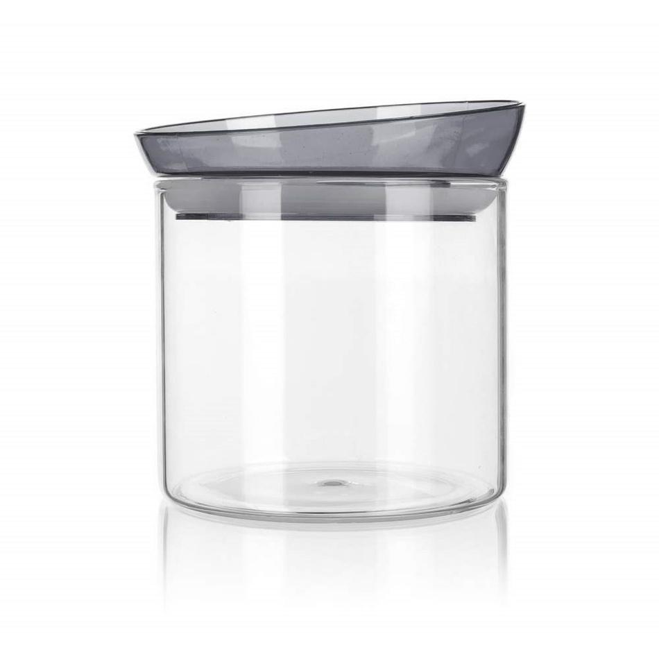 Banquet Dóza sklenená MABEL 650 ml, sivá