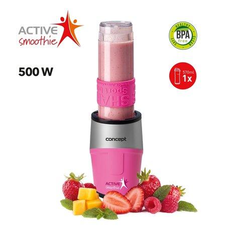 Concept SM3383 Smoothie maker Active Smoothie 500 W rózsaszín 1 x 570 ml
