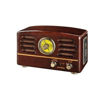 Radiopřijímač Hyundai RA 302 RETRO, USB/SD, ořech