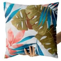 Domarex Poszewka na małą poduszkę Pink Leaves, 40 x 40 cm