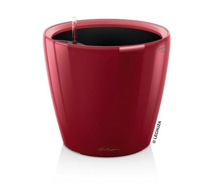Lechuza Classico LS 28 plastový květináč samozavlažovací červená