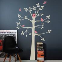 Naklejka dekoracyjna Szare pastelowe drzewo