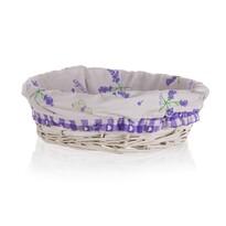 Coș împletit Home Decor Lavender, 25 x 7 cm