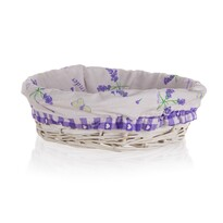 Home Decor Koszyk wyplatany z uszami Lavender , 25 x 7 cm Duo 26 x 18