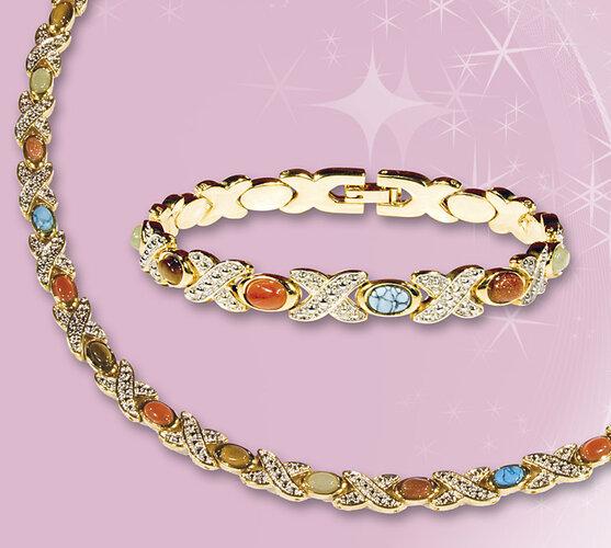 Súprava šperkov zlatá farba