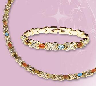 Souprava šperků zlatá barva