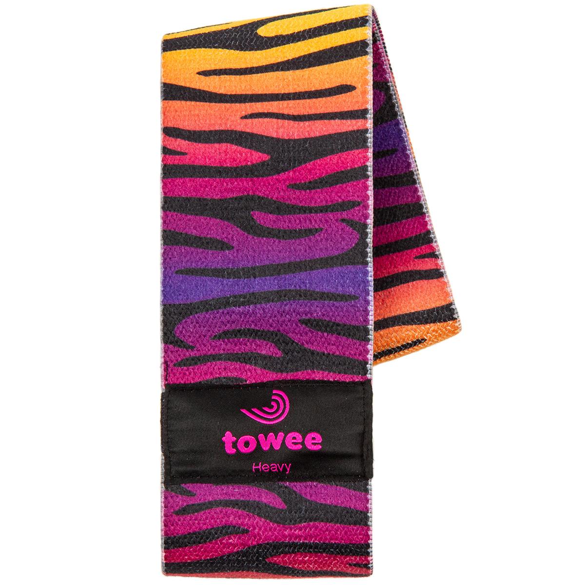 Towee Textilní odporová guma Zebra Booty band, silný odpor