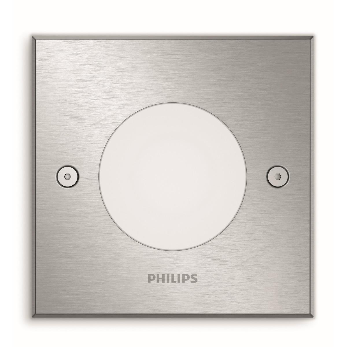 Philips 17356/47/P0 Crust Venkovní bodové pojezdové LED svítidlo 11,5 cm, stříbrná