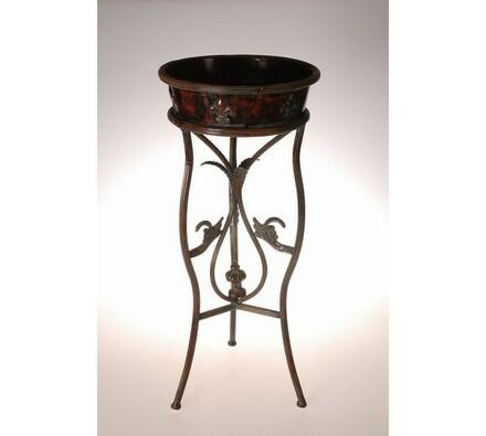 Květinový stolek Toledo, měděná, 32 x 32 x 74 cm