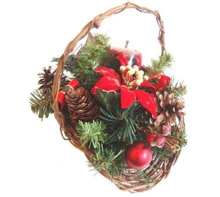 Dekorativní vánoční košík - vánoční hvězda