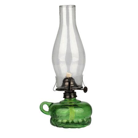 Petrolejová lampa, zelená