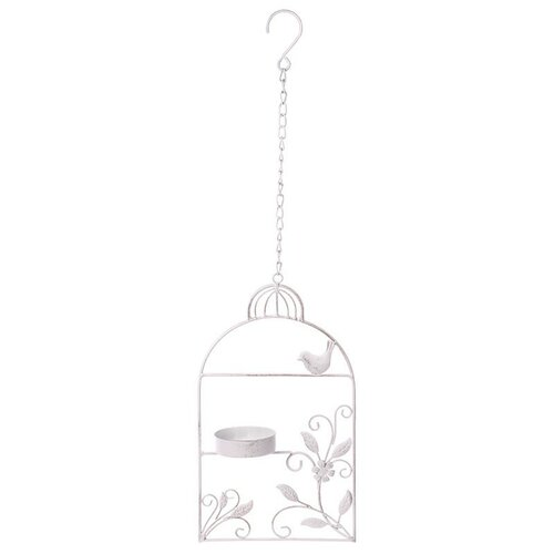 Krmítko, kovová dekorace na zavěšení Ptačí klec, 18 x 61 x 8 cm