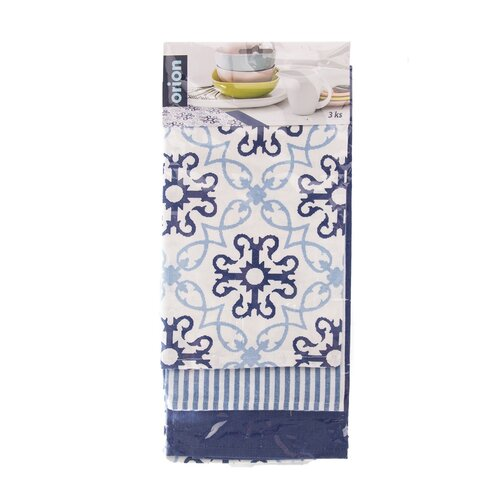 Kuchynská utierka Blue Shapes, 50 x 70 cm, sada 3 ks