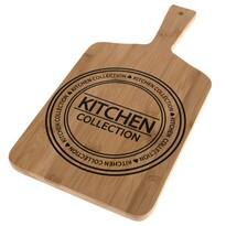 Kitchen szervírozó bambusz vágódeszka, 40 x 20 x 1,5 cm