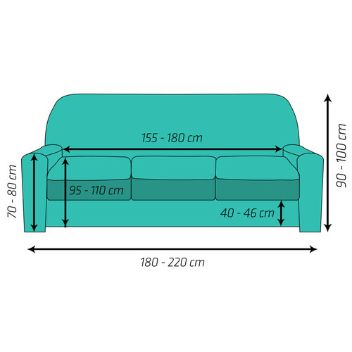 4Home Multielastický poťah na sedačku Comfort Plus sivá, 180 - 220 cm