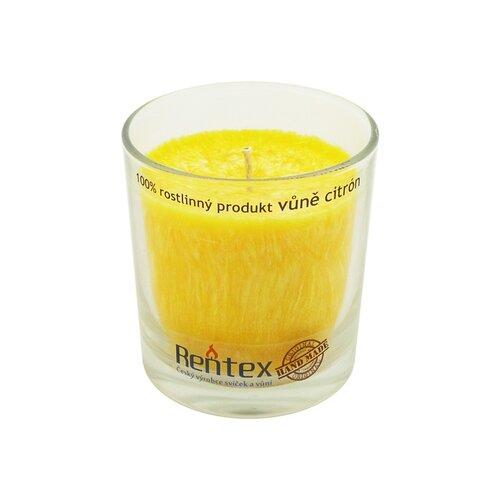 Palmová vonná sviečka v skle citrón