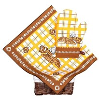 Set de bucătărie prosop și mănușă Patiserie maro, 40 x 70 cm, 17 x 27 cm