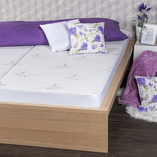 4home Lavender Chránič matraca s lemom, 90 x 200 cm + 30 cm