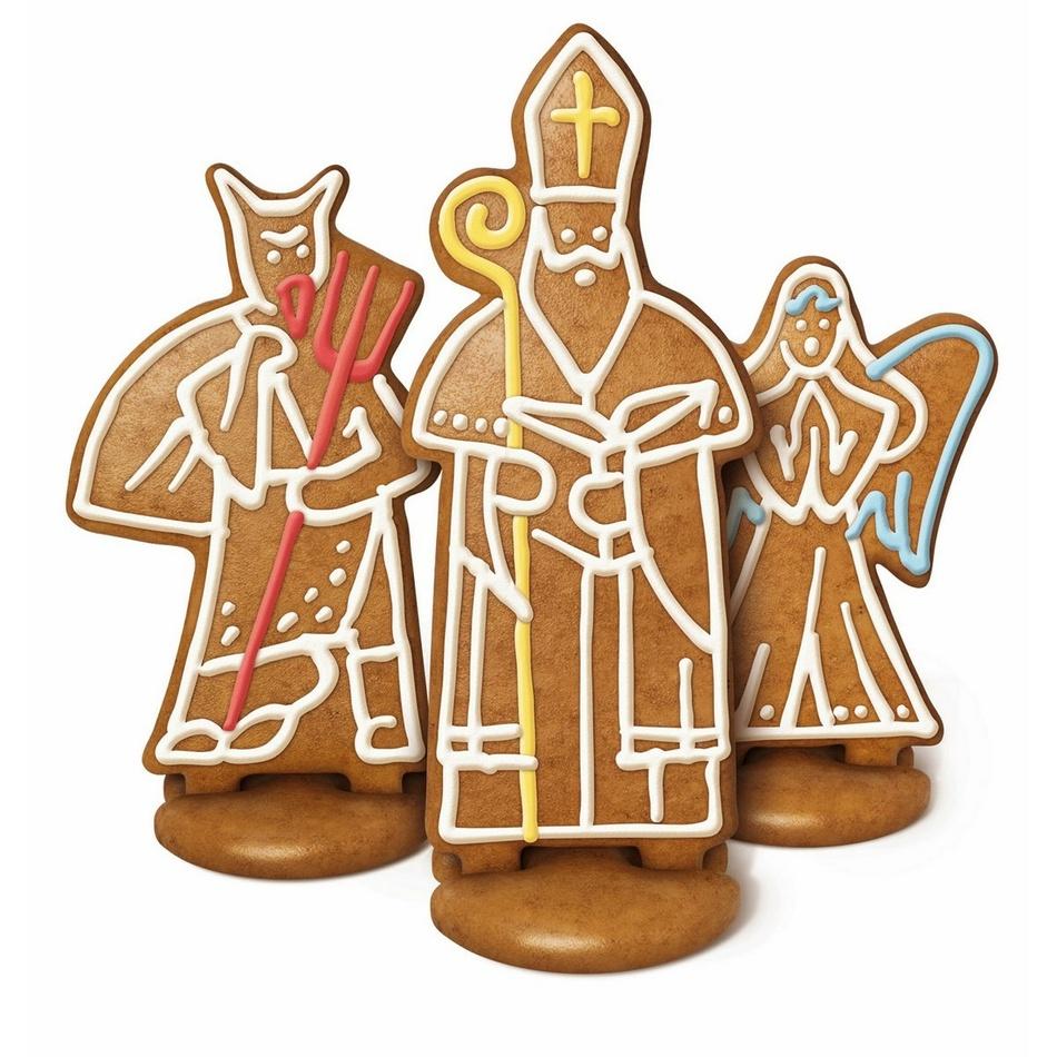 Perníkový Mikuláš, anjel a čert Tescoma DELÍCIA, súprava formičiek