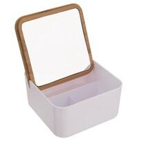 Orion WHITNEY kozmetikai doboz tükörrel, 14 x 14 x 7 cm