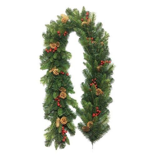 Vianočná girlanda Savona zelená, 200 cm