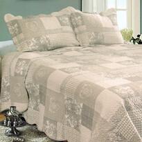 Patchwork ágytakaró, 230 x 250 cm, 2 db 50 x 70 cm