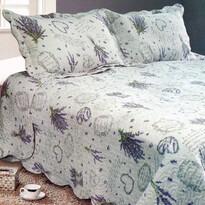 Levandule ágytakaró, 230 x 250 cm,  2 db 50 x 70 cm