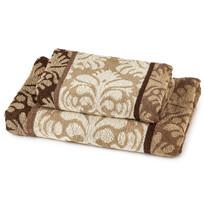 Ręcznik kąpielowy i ręcznik Castle brązowy, komplet 2 szt.