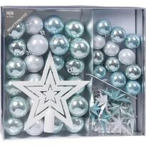 Sada vianočných ozdôb Christine 45 ks, modrá
