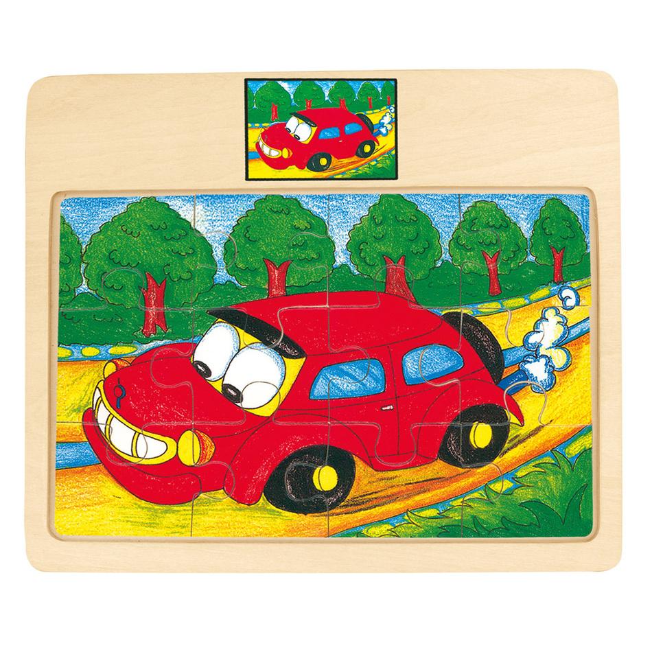Bino Puzzle na desce - auto - Tori