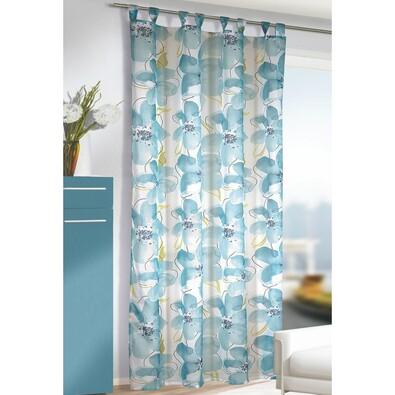 Záclona s poutky Jascha tyrkys, 135 x 245 cm