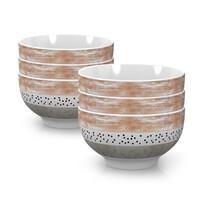Mäser porcelántál készlet STRIPES and DOTS 14 cm, 6 db-os