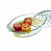 Vas oval de copt Simax Fashion, din sticlă3,5 l