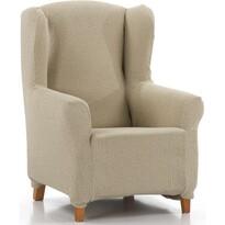 """Multielastyczny pokrowiec na fotel """"uszak"""" Petra beżowy, 70 - 110 cm"""