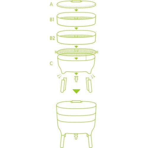 Recipient de compostare Urbalive, verde