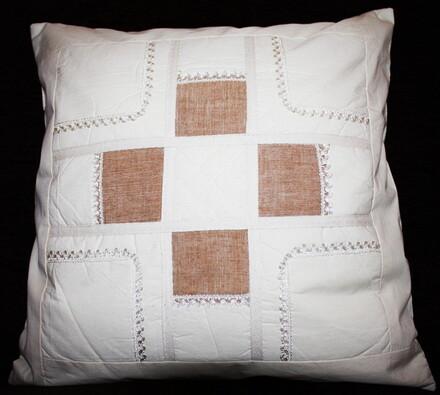 Bavlněný povlak na polštářek Kostka, 40 x 40 cm