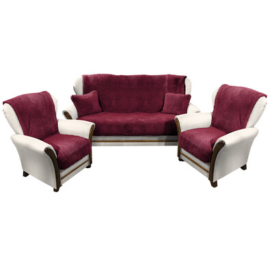 4Home gyapjú kanapé és foteltakaró szett bordó f9ec5e9109