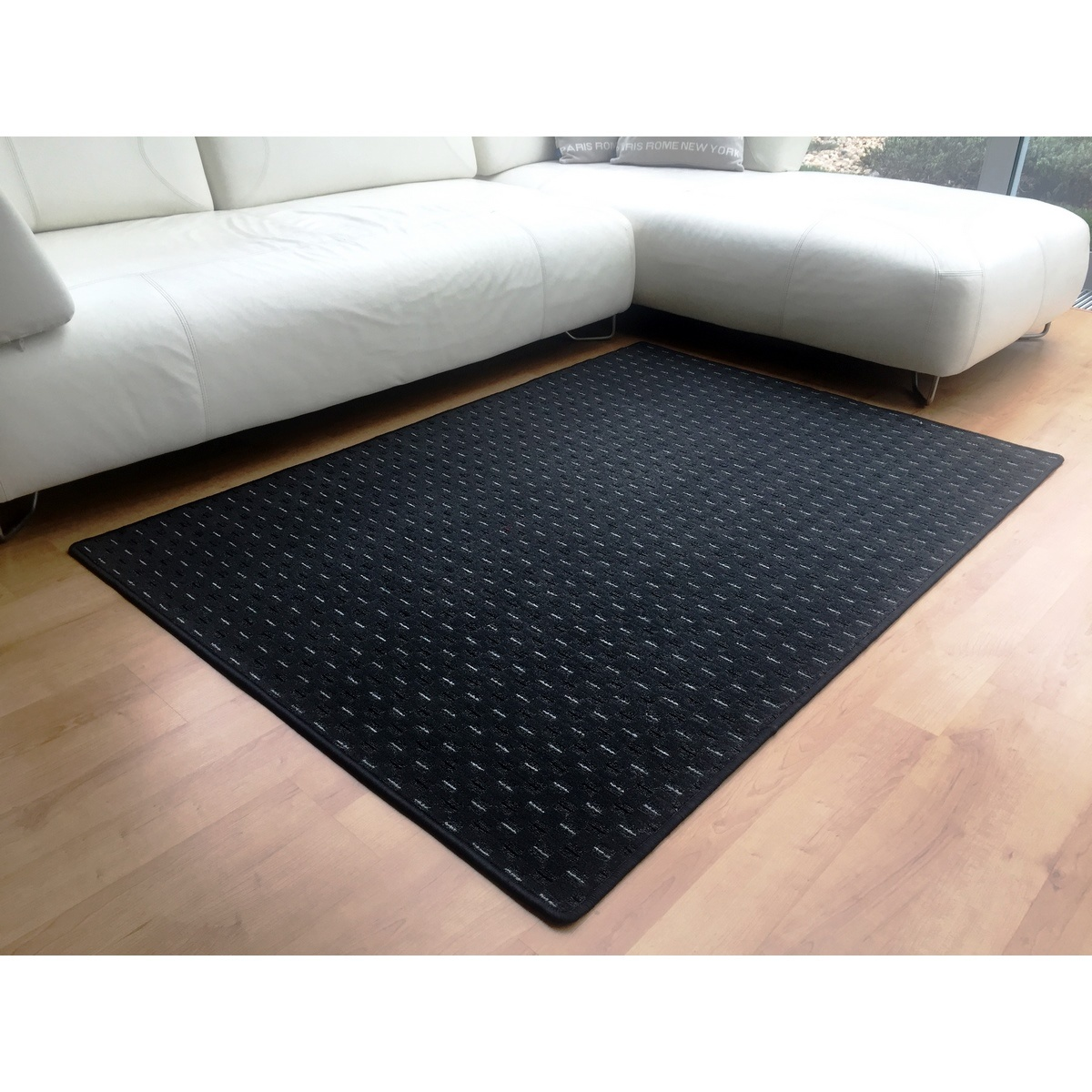 Vopi Kusový koberec Valencia antracit, 140 x 200 cm