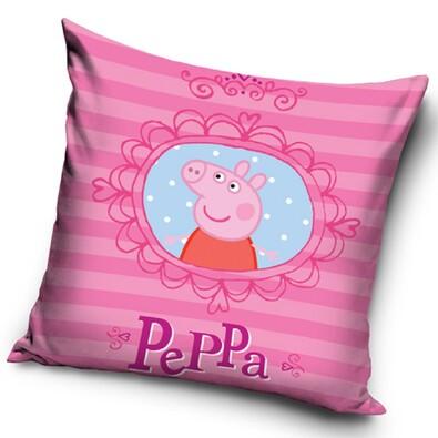 Polštářek Peppa Pig - Pepina v zrcadle, 40 x 40 cm