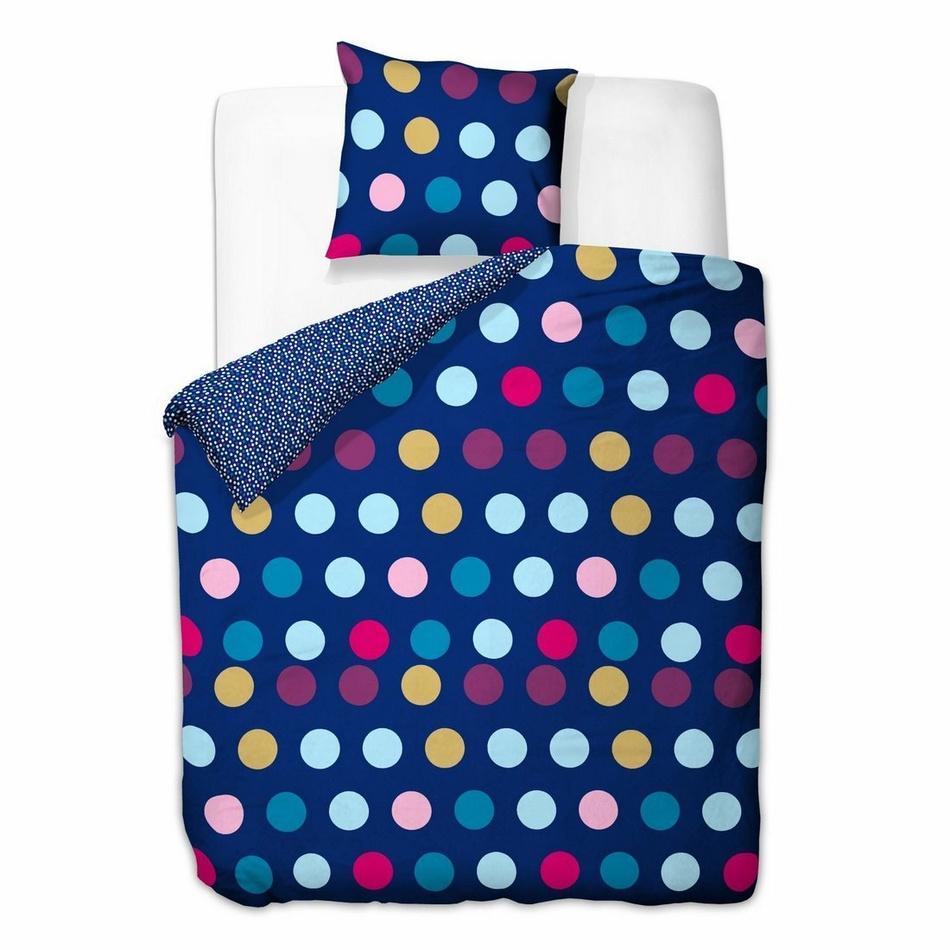 DecoKing Bavlnené obliečky Blue Dots, 135 x 200 cm, 80 x 80 cm