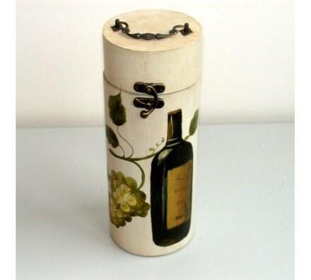 Truhla na láhev - bílé víno