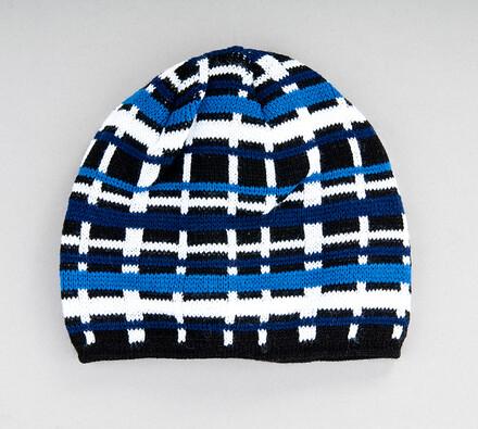 Pánská pletená čepice Karpet 5147, modrá