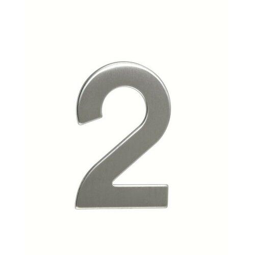 Rozsdamentes acél házszám, 2, 2D, lapos