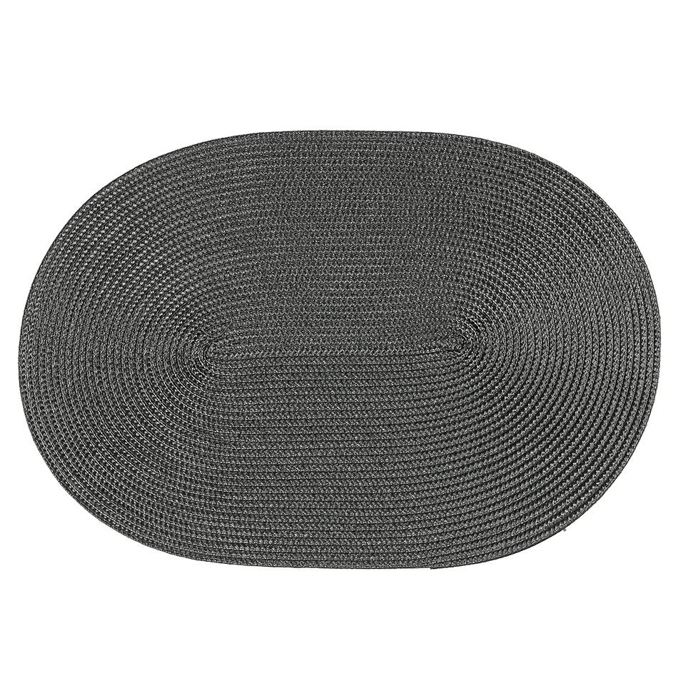 Produktové foto Jahu Prostírání Deco ovál tmavě šedá, sada 4 kusů, 30x45 cm