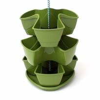 Kvetináč na bylinky Coubi 3 poschodia, závesný, tmavo zelená