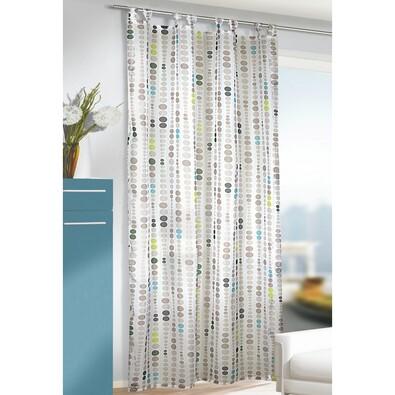 Záclona s pútkami John zelená, 135 x 245 cm
