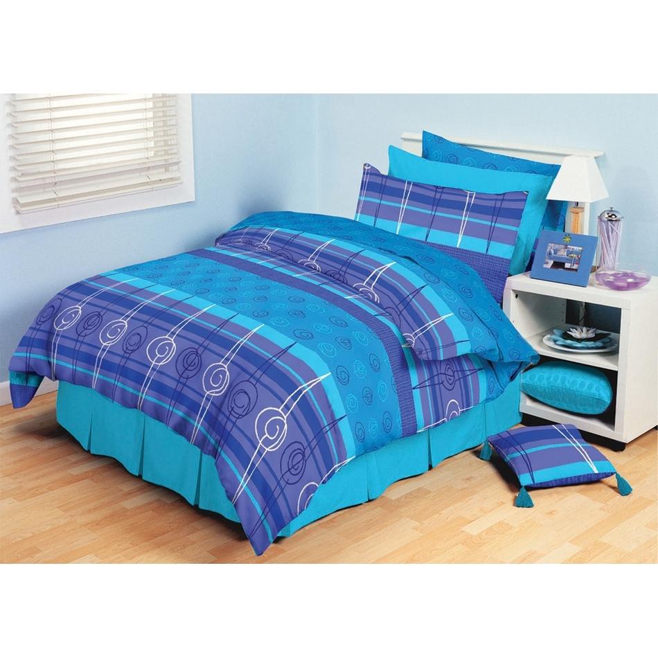 TipTrade bavlna povlečení Amber Modré 200x220 2x70x90, 220 x 200 cm, 2 ks 70 x 90 cm