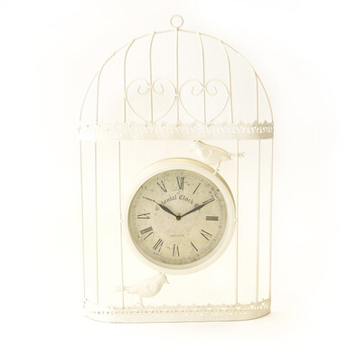 Venkovní hodiny bílá