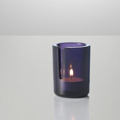 Svícen Match 8 cm, fialový