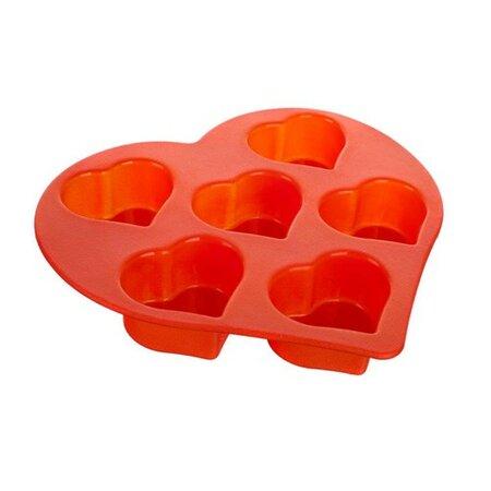 Sildo Silikonová forma na muffiny červená